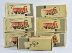 7 Originalkartons Fa. Fleischmann Spur 0 um 1950