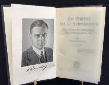 """""""Der Mythos des 20.Jh."""", Alfred Rosenberg, Hoheneiching Verlag München, 1935, 61. bis 62.Auflage"""