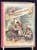 """Puppenmütterchens Nähschule"", Agnes Lucas, Verlag Otto Maier, Ravensburg um 1900, Zustand stärker"