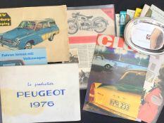 """Konvolut Auto-Literatur um 1960, u.a. Programmhefte Autorennen, Zeitschriften """"Club"""", Handbuch"""