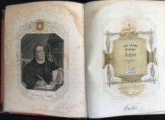 """""""Das Leben Dr.Martin Luthers"""", Leipzig bei Pönicke & Sohn, 1841, Halbleder mit Goldprägung, leicht"""