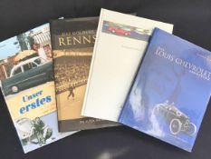 """Konvolut Autoliteratur 4 Bücher, """"Rennsportbuch 1960-1965"""", """"Das Louis Chevrolet Abenteuer"""", """"Der"""
