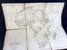 Karte von Afrika, Entw.gez.von F.Handtke, Lit., Druck u. Verlag von C.Flemming/Glogau 1848, auf