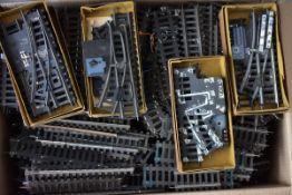 Großes Konvolut Schienen-, Geraden+ Kurfen-und Weichenmaterial, Prellböcke, Ausgleichsstücke,