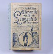 """,,Chronik der Stadt Lengenfeld im Vogtland"""", Dr. Karl Böhm, 1935, Druck und Verlag Max Rau"""
