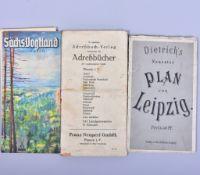 Konvolut Karten u Adressbücher aus Sachsen, guter Zustand- - -23.00 % buyer's premium on the