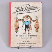 """Kinderbuch""""Fritz Pfiffikus"""", 16 Ränke und Schwänke für Jung und Alt von A.v. Wedel, 90 Zeichnungen"""