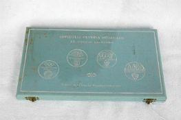 Olympia-Medaillen im Kasten, XX. Olympiade 1972 München, geprägt im Auftrag des
