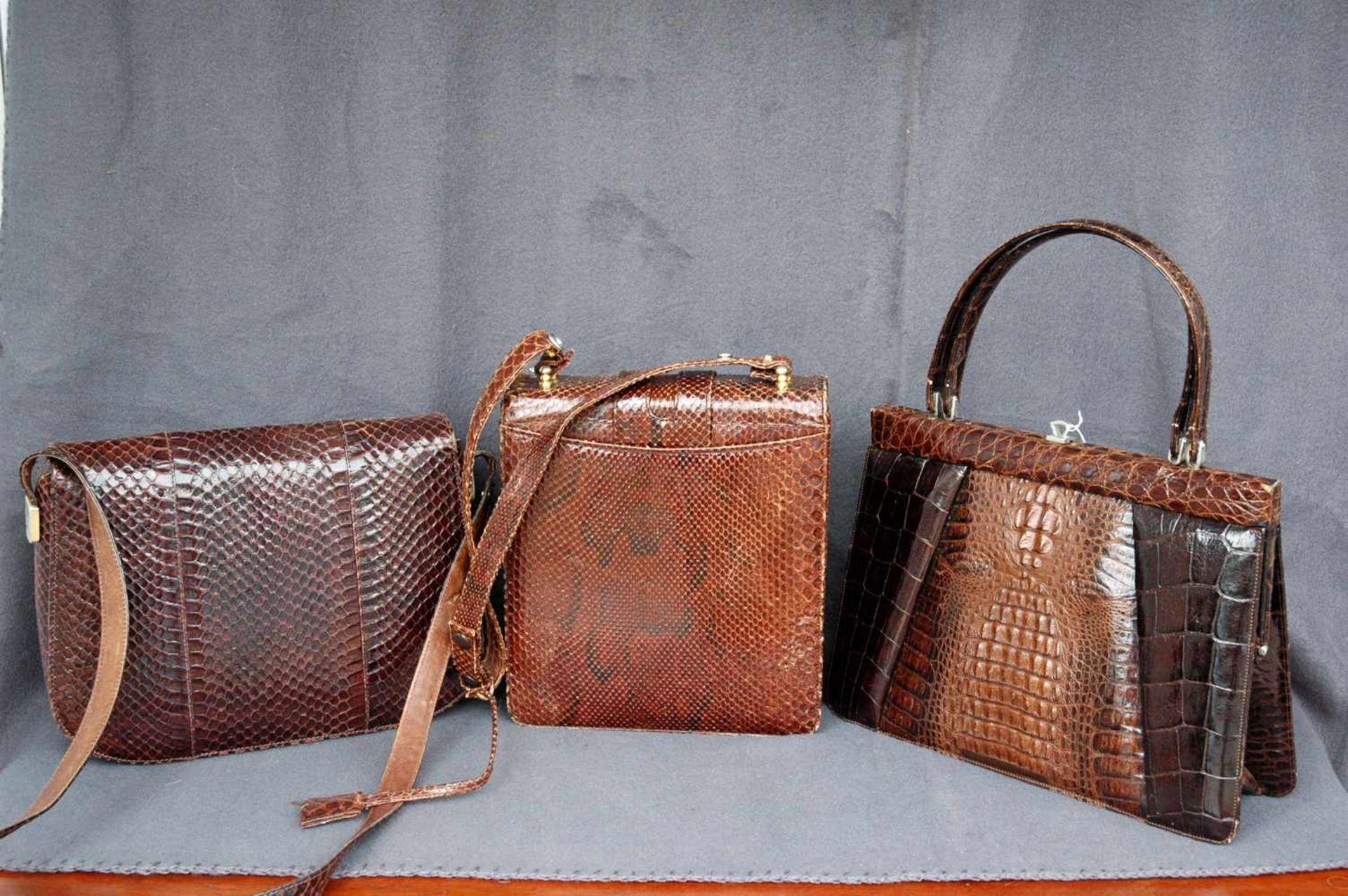 Konvolut: drei Damen-Lederhandtaschen - Bild 2 aus 2
