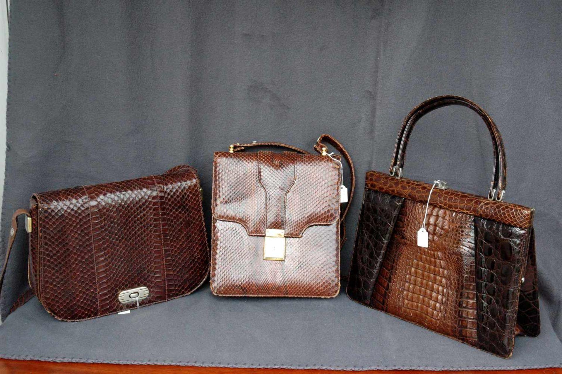 Konvolut: drei Damen-Lederhandtaschen