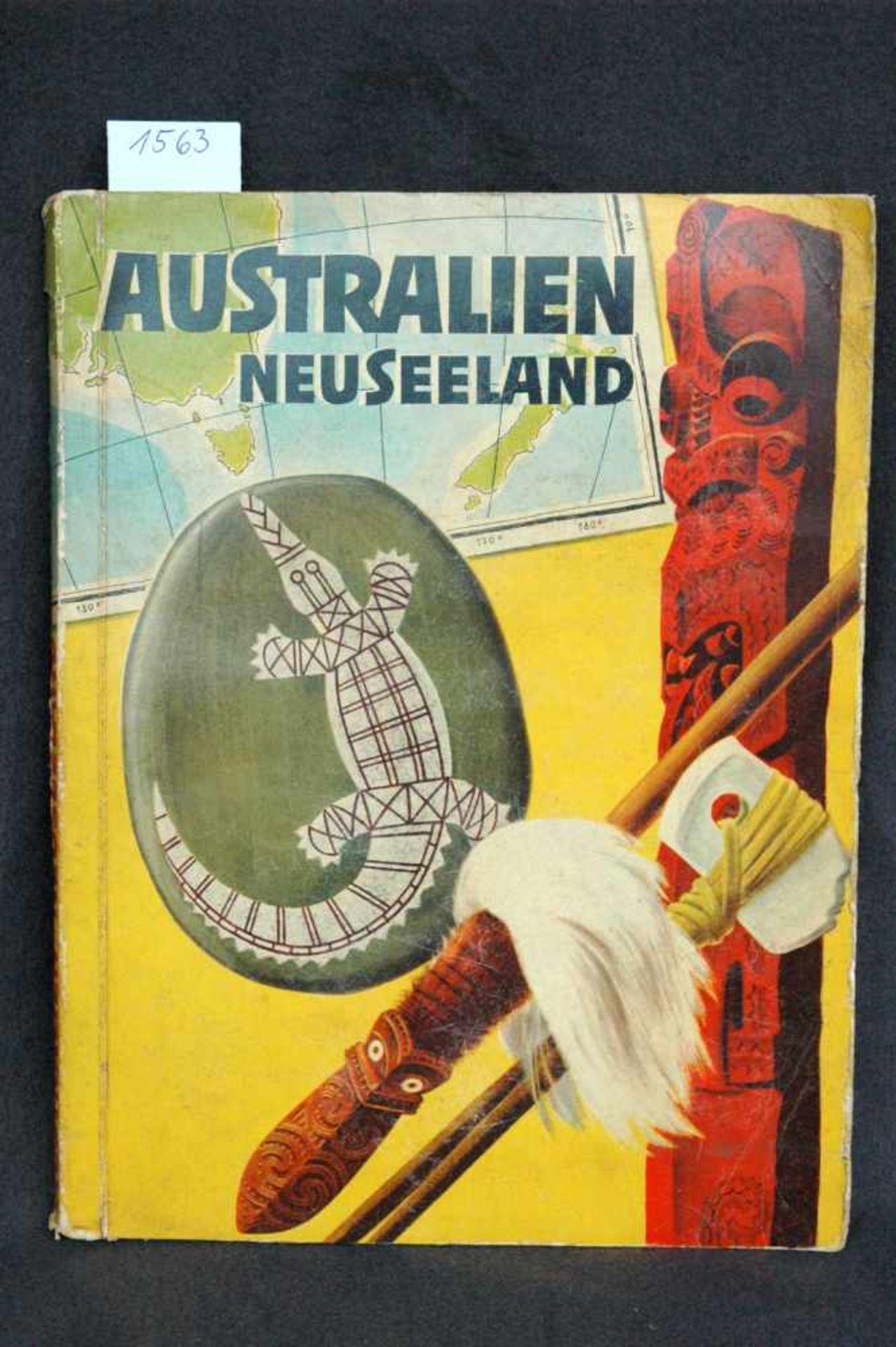 Sammelbilderalbum, Australien, Neuseeland, Jims Abenteuer im Land der trockenen Flüsse, Margarine