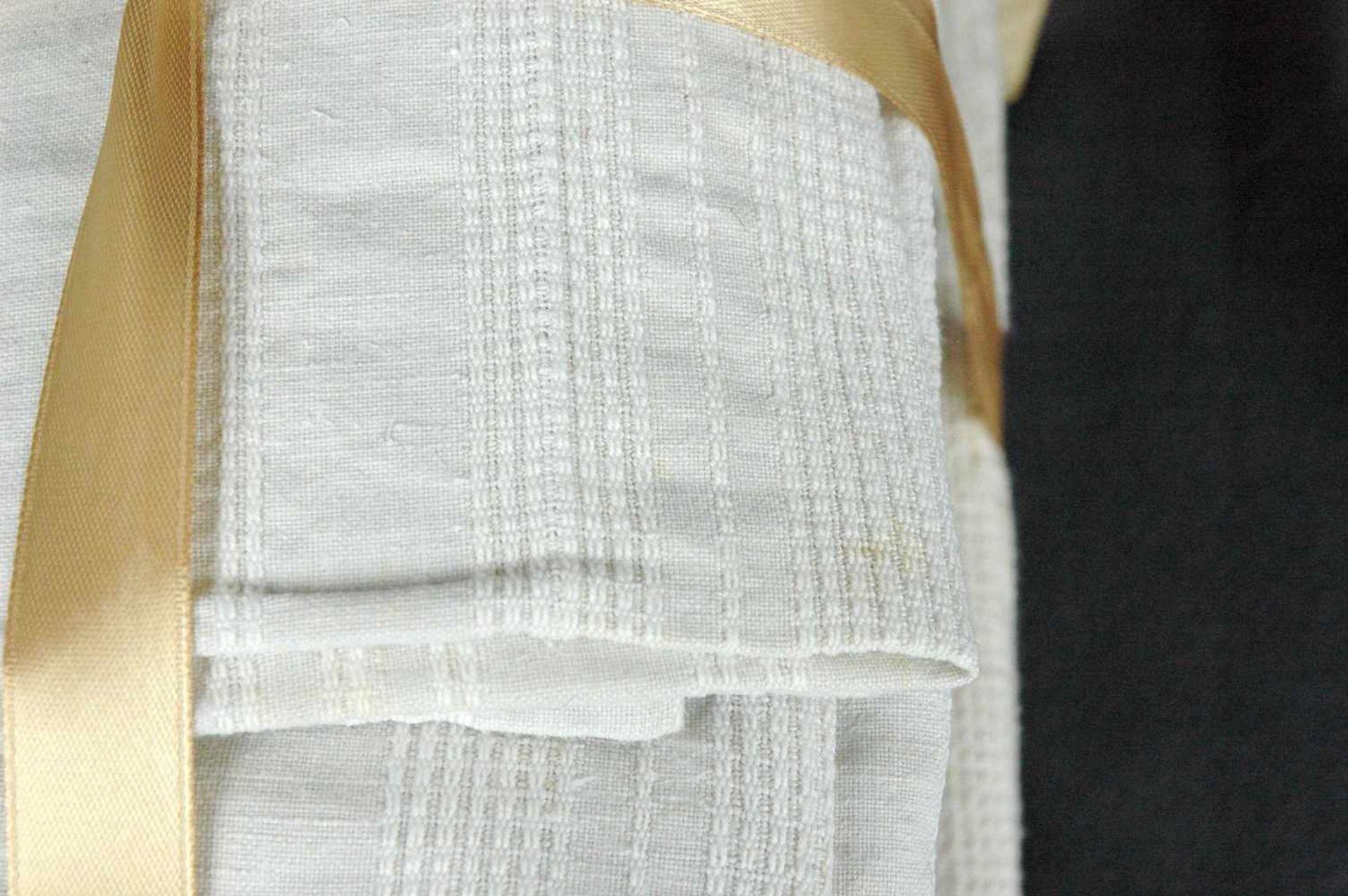11 Leinen-Handtücher: 6 grobe, rotes Monogramm EO5 feine, Streifen, rotes Monogramm EO - Bild 3 aus 4