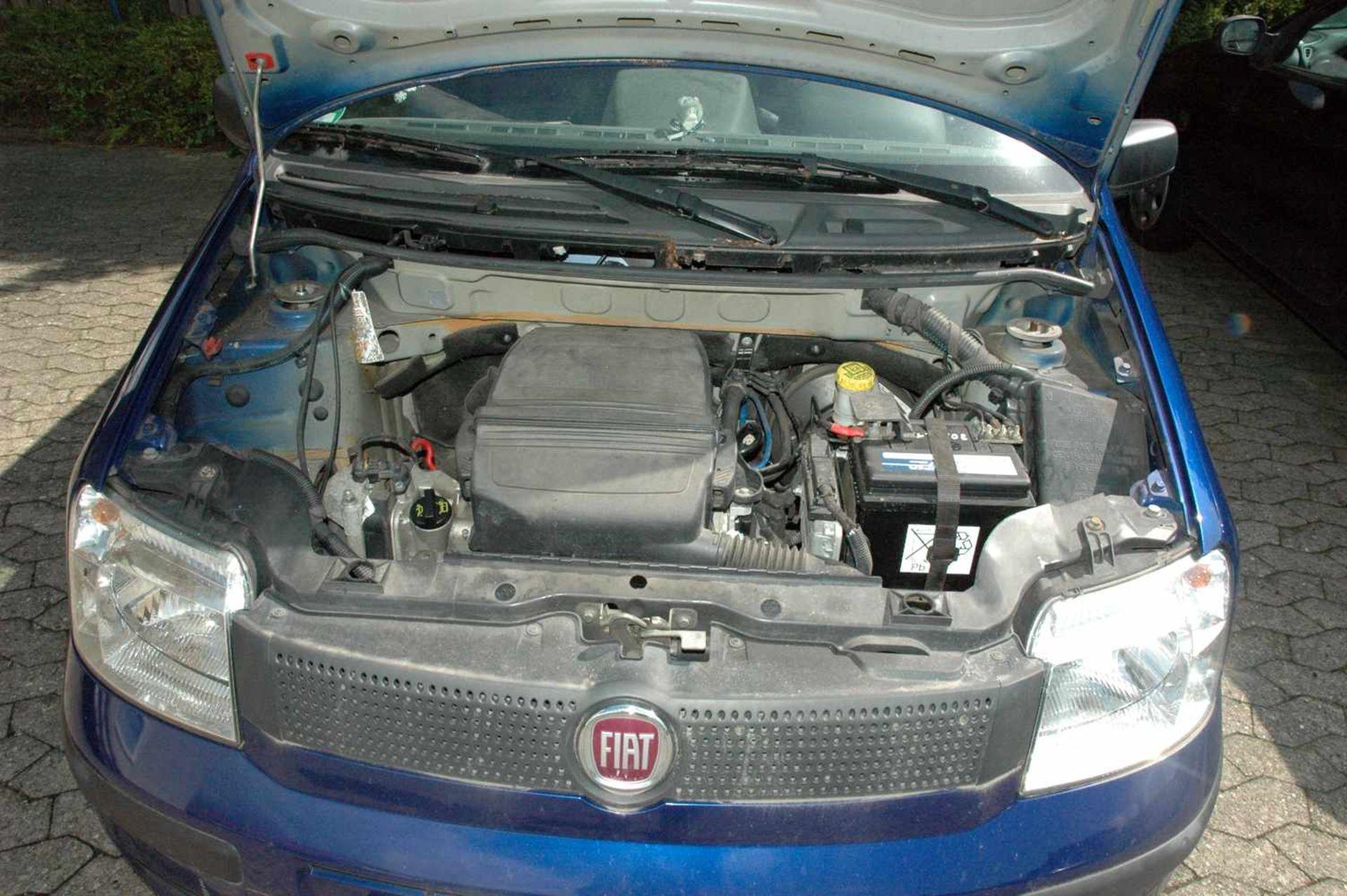 PKW, Fiat Panda, EZ 01.04.09, 40 kW, km-Stand: 130965m blau, TÜV 9/20, Benziner, Brief nicht - Bild 7 aus 9
