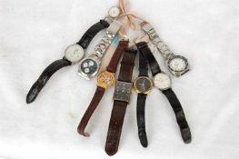 8 Armbanduhren: Adora, 2x King Quartz, Lexor, Fossil, WE