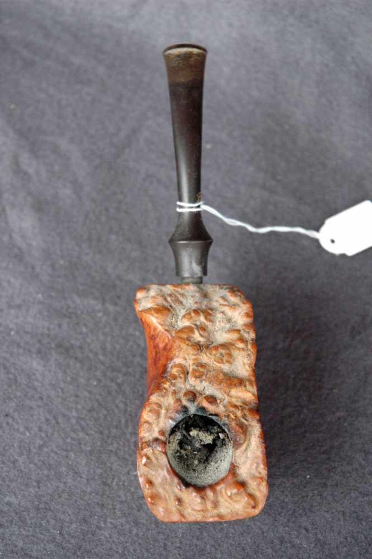 Zwei Pfeifen: Jägerpfeife, Holz und Gehörn; gr. Bruyere-Stück (ca. 9 x 5 cm) - Bild 4 aus 4