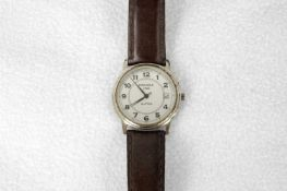 Armbanduhr, Kienzle 1822, Alpha, arabische Ziffern, mit Datumanzeige, Dm. 3 cm, Lederarmband