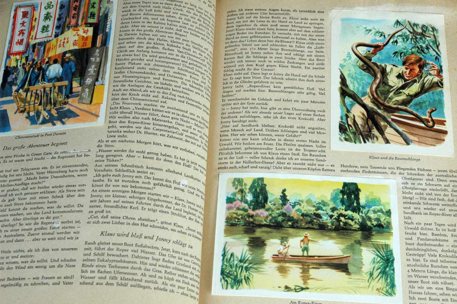 Sammelbilderalbum, Australien, Neuseeland, Jims Abenteuer im Land der trockenen Flüsse, Margarine - Bild 2 aus 2