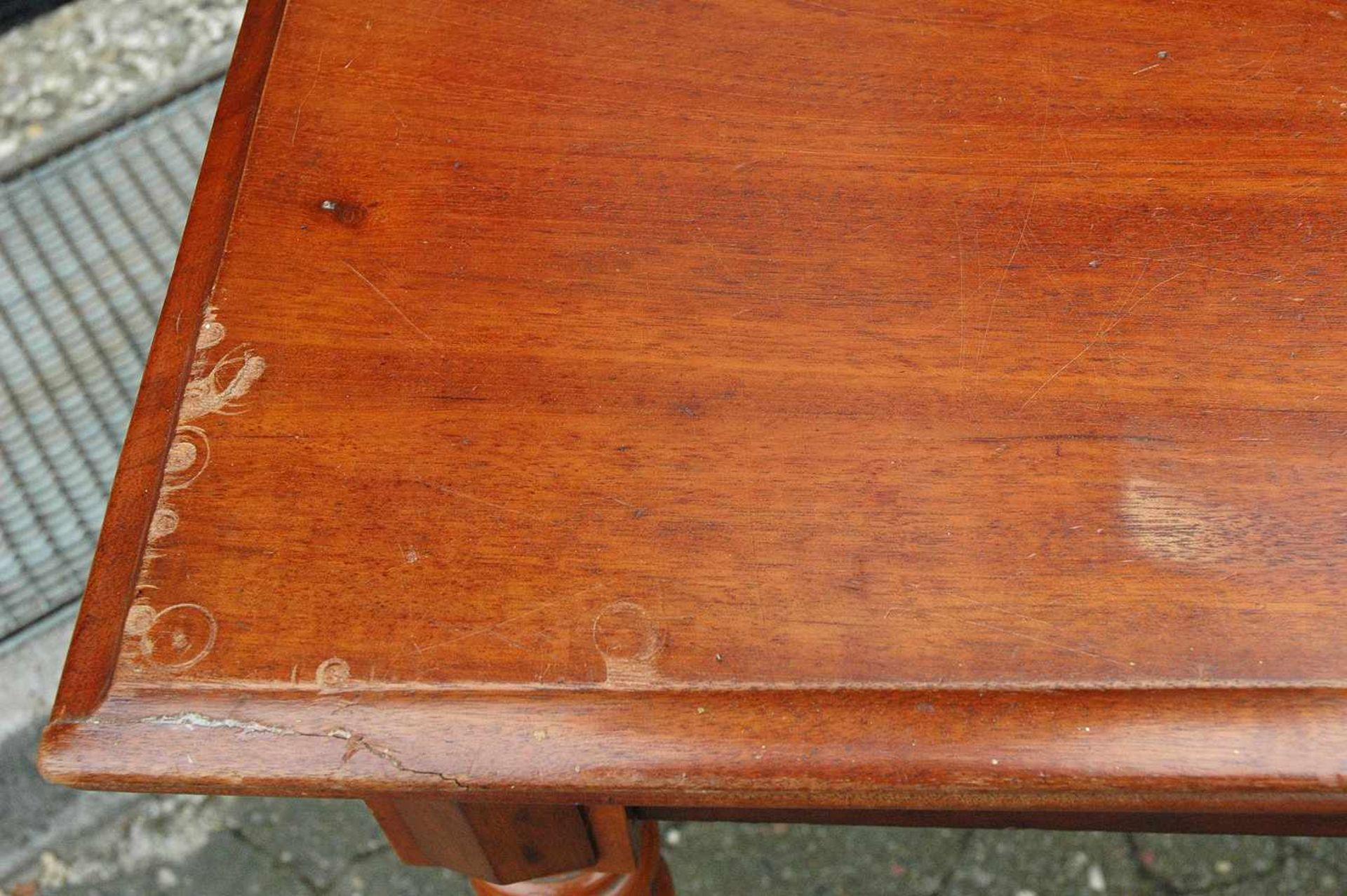 Spieltisch, Gründerzeit, Platte mit leichten Schäden, h= 76 cm - Bild 5 aus 5
