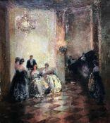 Ludwig Schosmann (geb. 1901), Festliche Konzertgesellschaft, in einem hohen Ballsaal mit prunkvollen