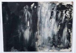 """Michael Burges (1954). In The Word of Black and White. Mischtechnik/Papier, signiert und datiert """""""