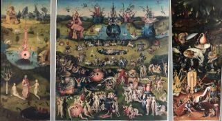 """Künstler Beer aus Berlin, detailgetreue Kopie nach Hieronymus Bosch, Triptychon """"Der Garten der"""