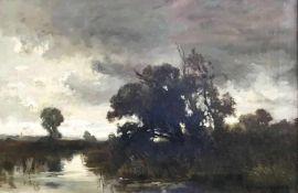 Fritz Halberg-Krauss (1874 Stadtprozelten - 1951 Prien/Chiemsee), Landschaft mit sumpfigem Gelände