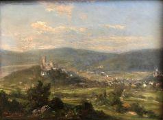 Alfred Karl Julius von Schönberger (1845-1907/09), Königstein im Taunus: Der Blick schweift in das