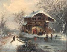 Karl Kaufmann (1843-1902/05, Pseudonym u.a. Charles Marchand), Winterlandschaft mit