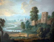 Norbert Joseph Carl Gründ (auch Grund) 1717 Prag - 1767 Prag). Landschaft mit Personenstaffage, um