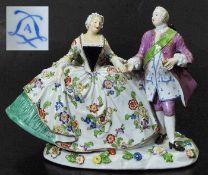 Rokoko-Figurengruppe.Rokoko-Figurengruppe im Stil des Pariser Porzellanherstellers SAMSON, wohl nach