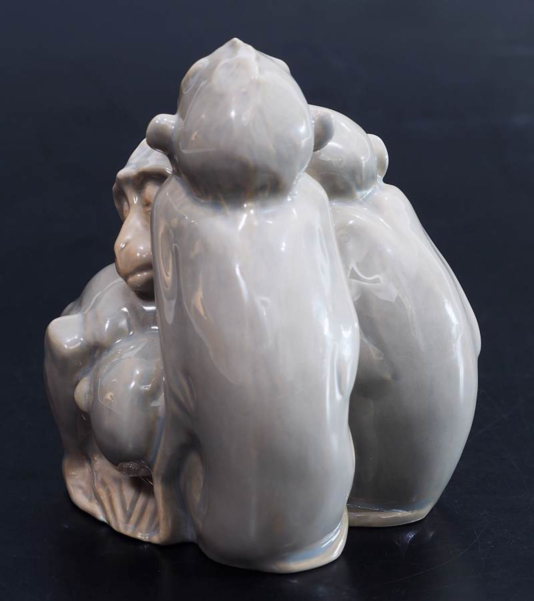 """Figurengruppe """"Vier schlafende Affen"""". BING & GRONDAHL/Denmark. Figurengruppe """"Vier schlafende - Bild 4 aus 5"""