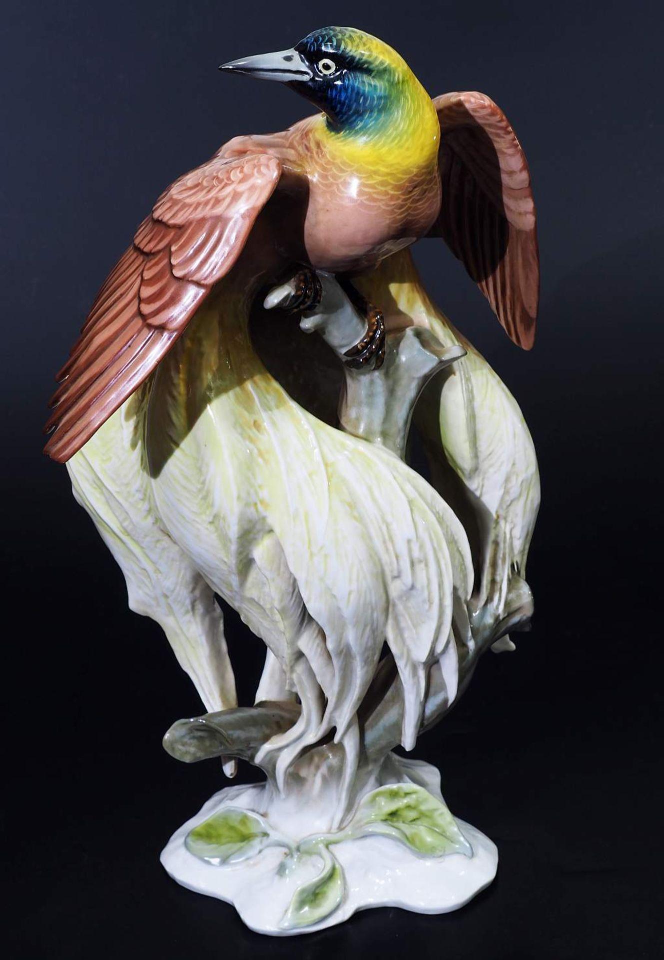 """Große Tierplastik """"Paradiesvogel"""". Große Tierplastik """"Paradiesvogel"""". ROSENTHAL Kunstabteilung Selb, - Bild 2 aus 8"""