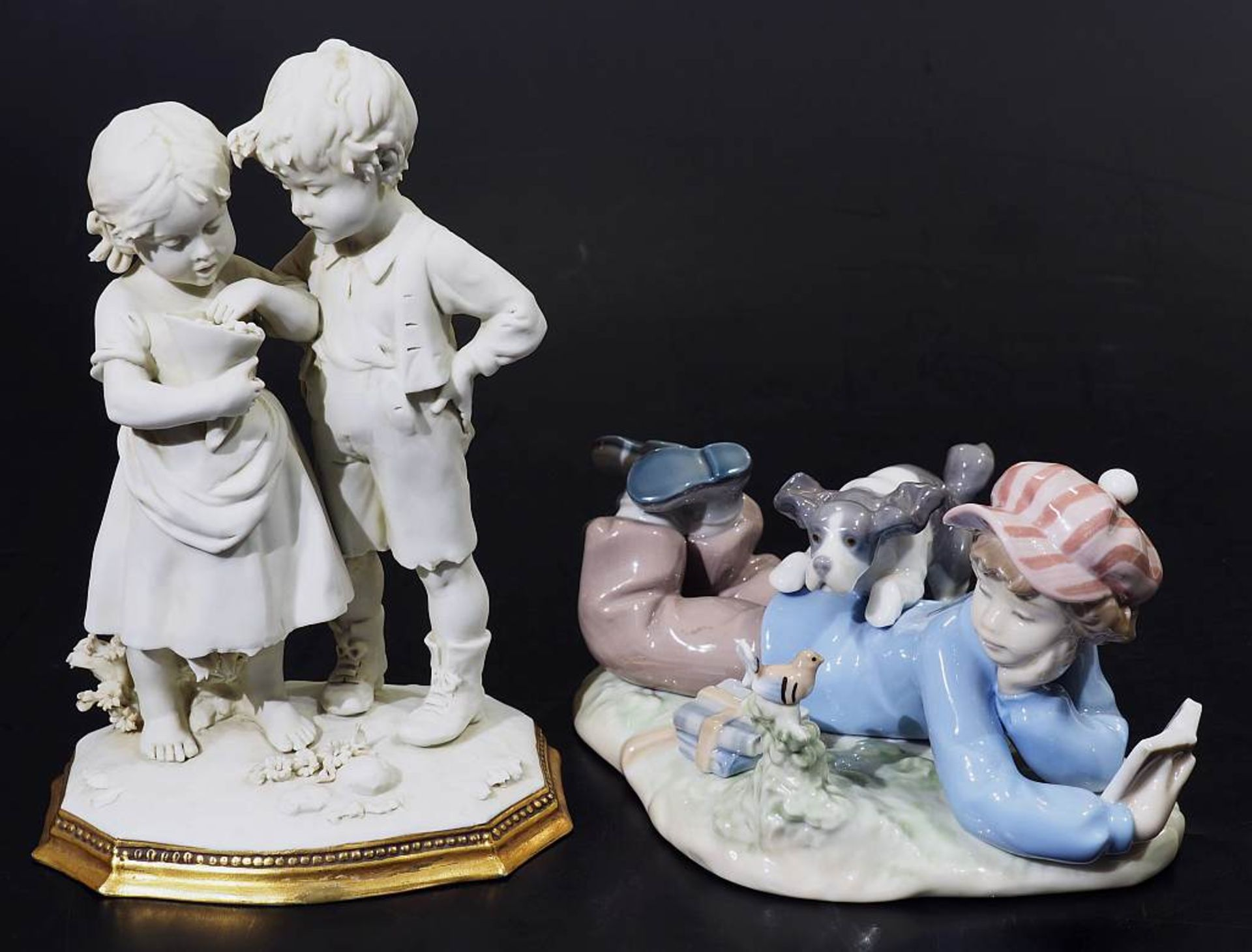 Zwei Kindenfiguren-Gruppen.Zwei Kindenfiguren-Gruppen. 1) Kindergruppe LLADRO/Spanien. Liegender - Bild 2 aus 4