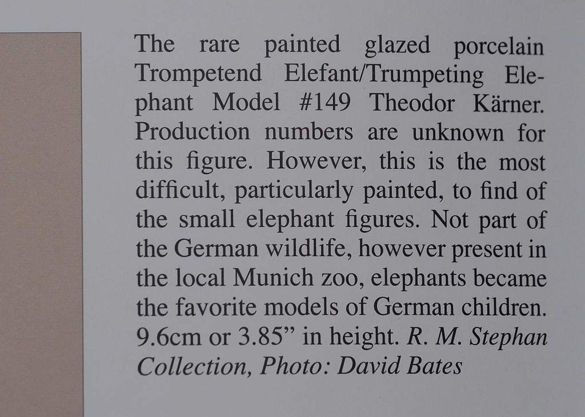 """Sehr seltene Tiefigur """"Elefant, trompetend"""", ALLACH. Sehr seltene Tiefigur """"Elefant, trompetend"""", - Bild 12 aus 12"""