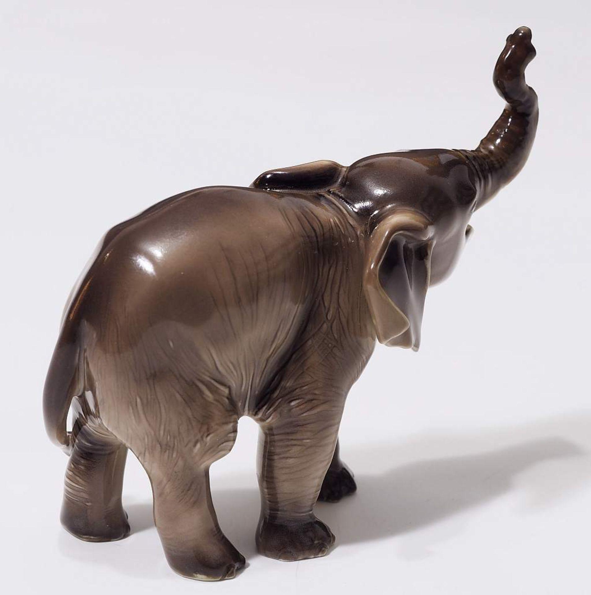 """Sehr seltene Tiefigur """"Elefant, trompetend"""", ALLACH. Sehr seltene Tiefigur """"Elefant, trompetend"""", - Bild 5 aus 12"""