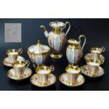 """Kaffeeservice für 6 Personen. NYMPHENBURG um 1820, Form """"Empire"""". Kaffeeservice für 6 Personen."""