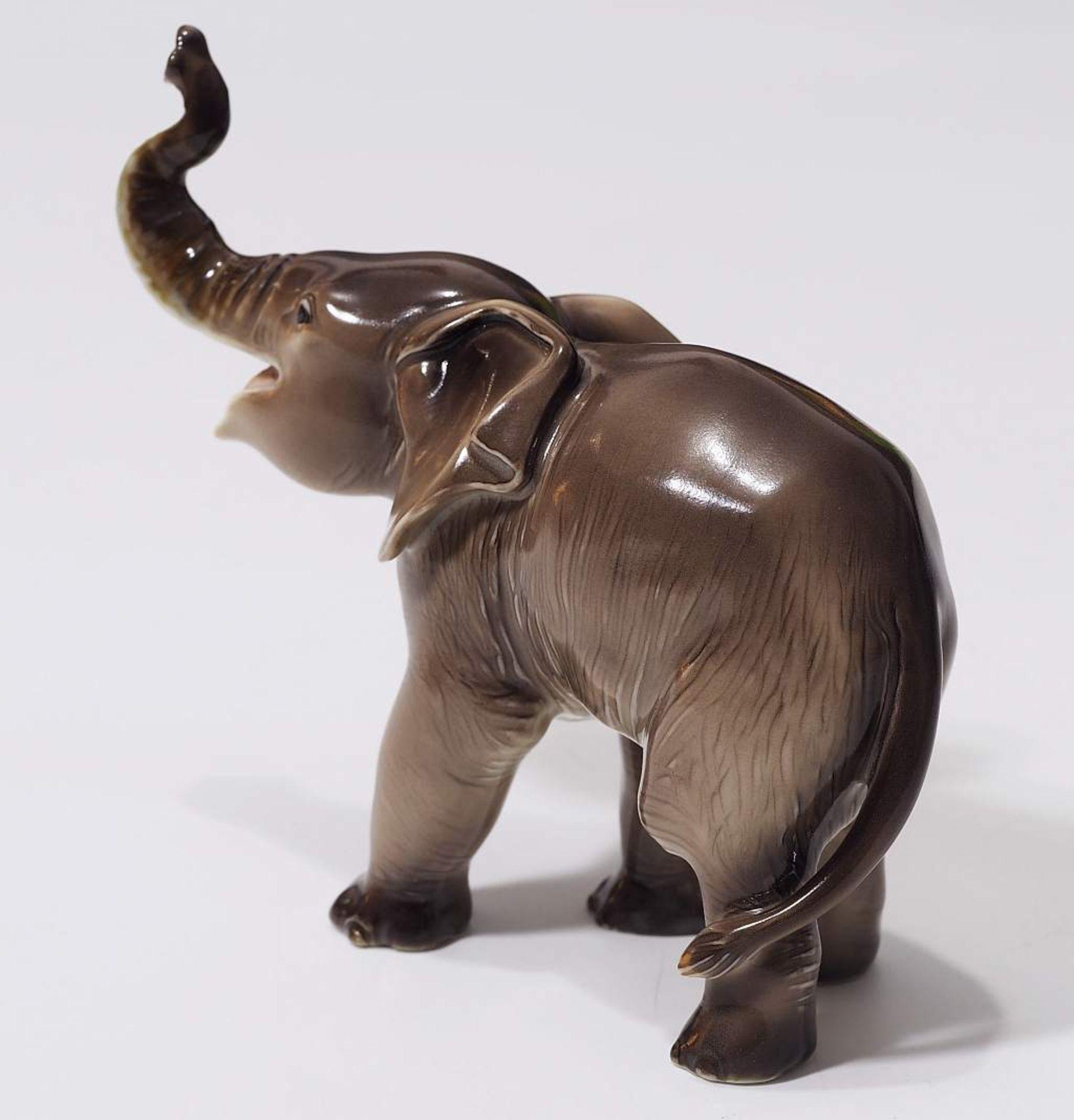 """Sehr seltene Tiefigur """"Elefant, trompetend"""", ALLACH. Sehr seltene Tiefigur """"Elefant, trompetend"""", - Bild 6 aus 12"""