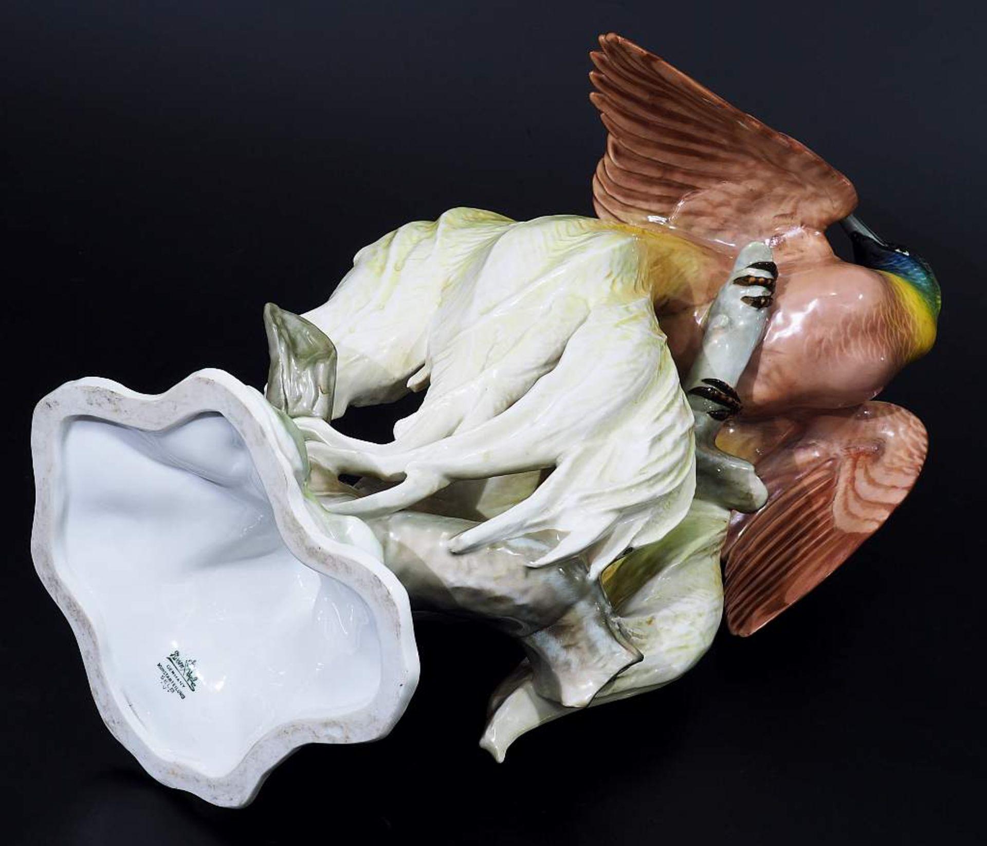 """Große Tierplastik """"Paradiesvogel"""". Große Tierplastik """"Paradiesvogel"""". ROSENTHAL Kunstabteilung Selb, - Bild 6 aus 8"""