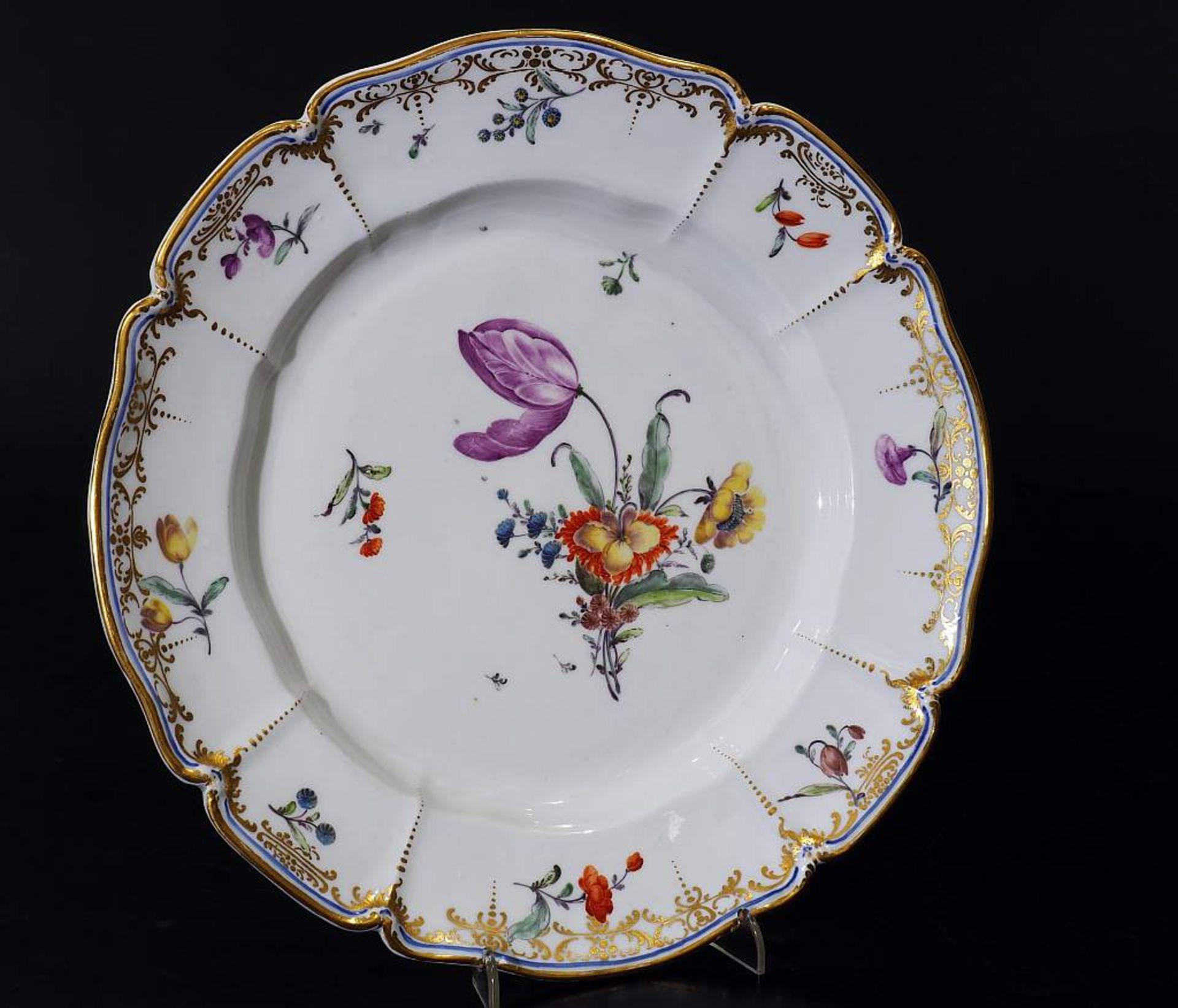 Zierteller. NYMPHENBURG 18. Jahrhundert. Zierteller. NYMPHENBURG 18. Jahrhundert. Teller aus dem - Bild 2 aus 6