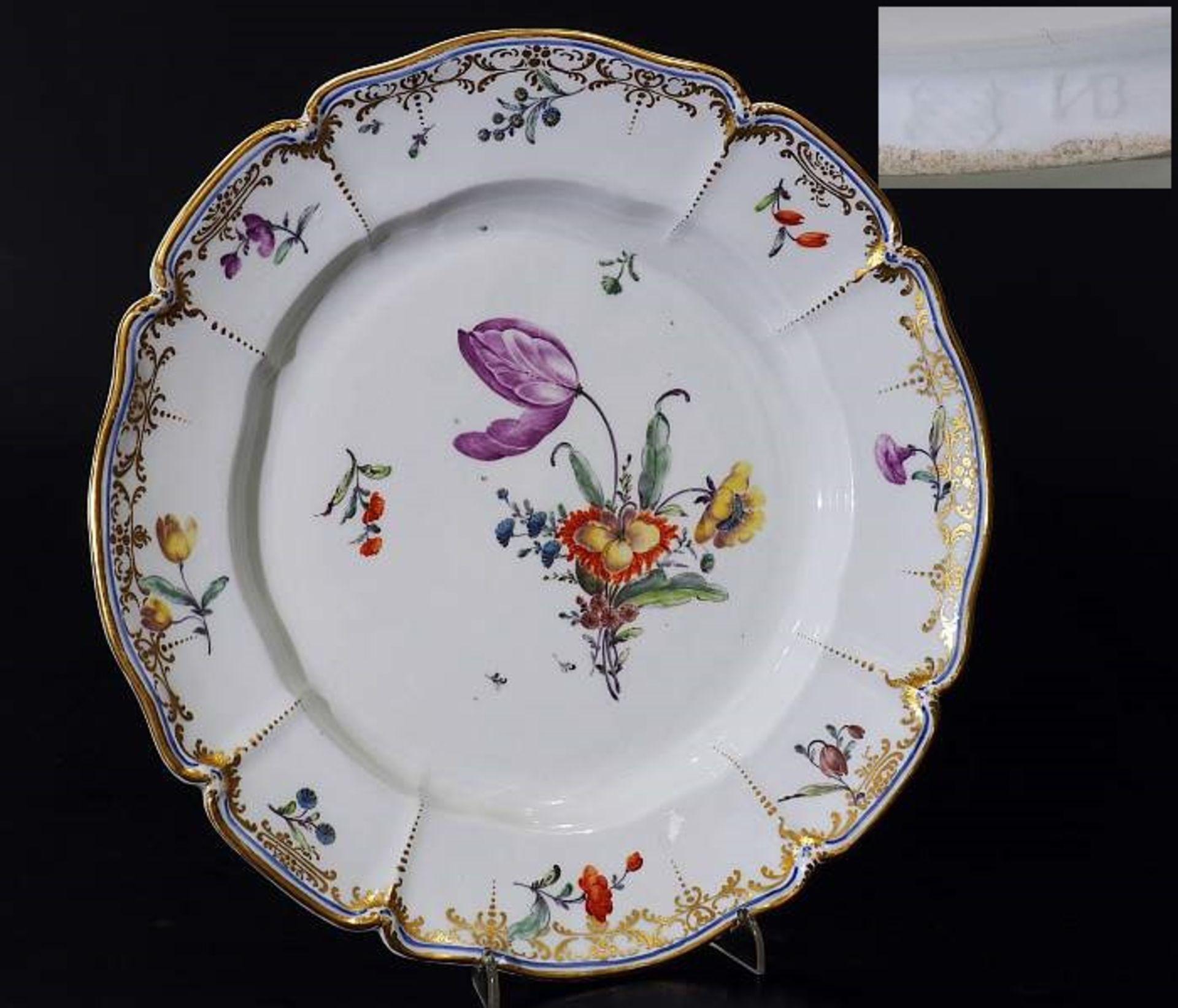 Zierteller. NYMPHENBURG 18. Jahrhundert. Zierteller. NYMPHENBURG 18. Jahrhundert. Teller aus dem