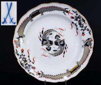 Indisch-Teller. MEISSEN um 1860, 1. Wahl. Indisch-Teller. MEISSEN um 1860, 1. Wahl. Camaieumalerei