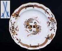 Indisch-Teller. MEISEN um 1860, 1. Wahl. Indisch-Teller. MEISSEN um 1860, 1. Wahl. Camaieumalerei in