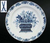 Seltene Blaudekor-Schale. Seltene Blaudekor-Schale. MEISSEN 19. Jahrhundert, 1. Wahl. Florale