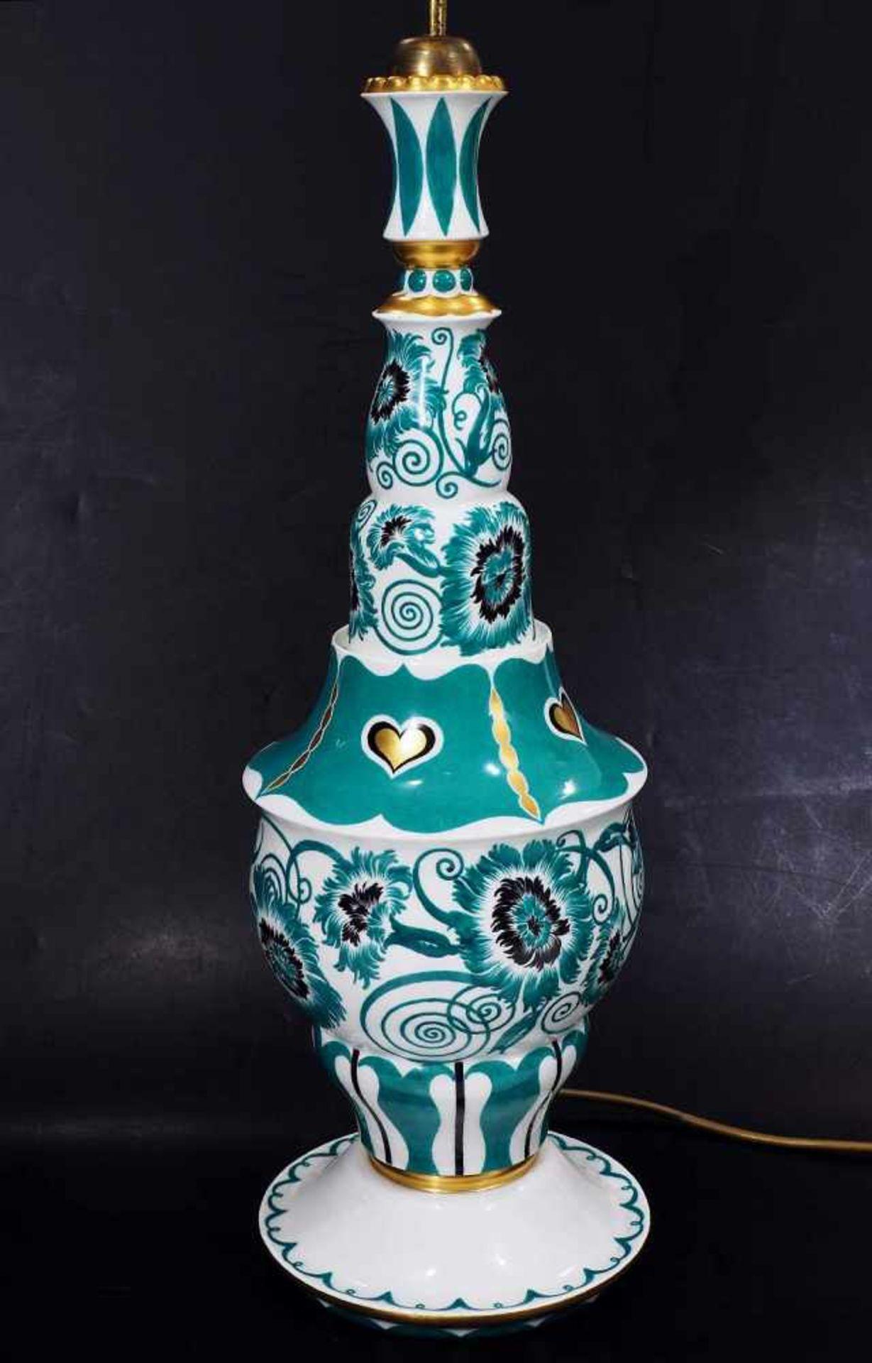 Los 32 - Sehr seltener Lampenständer. MEISSEN, Entwurf Paul Börner vor 1914. Sehr seltener Lampenständer.