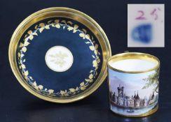 Bildtasse. Untertasse. WIEN, Kaiserliche Manufaktur um 1800/10.Bildtasse. Untertasse. WIEN,