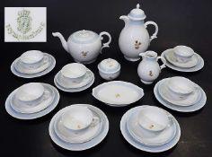 Kaffee- und Teeservice für sechs Personen.Kaffee- und Teeservice für sechs Personen. NYMPHENBURG,