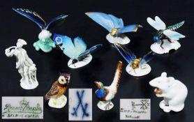 Sammlung von tierfigürlichen Miniaturen. 20. Jahrhundert. Sammlung von tierfigürlichen Miniaturen,