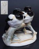 """Figurengruppe """"Elsternpaar"""". NYMPHENBURG. Figurengruppe """"Elsternpaar"""". NYMPHENBURG, Modellnummer"""