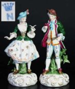 Figurenpaar in RokokokleidungFigurenpaar in Rokokokleidung. Thüringen, 20. Jahrhundert. Dame mit