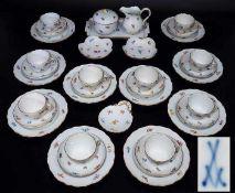 Kaffeeservice für 10 Personen.Kaffeeservice für 10 Personen. MEISSEN 1860 - 1923, 1. Wahl. Insgesamt